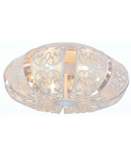 Потолочная люстра Arte Lamp A5116PL-6WG белый/золото, диаметр 51 см