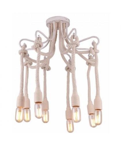 Потолочный светильник Arte Lamp A9477PL-8WG белый/золото, диаметр 70 см