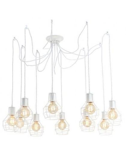 Подвесной светильник Arte Lamp A9182SP-10WH белый, диаметр 85 см