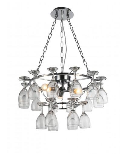 Люстра подвесная Arte Lamp BANCONE A7042SP-3CC, диаметр 54 см, хром