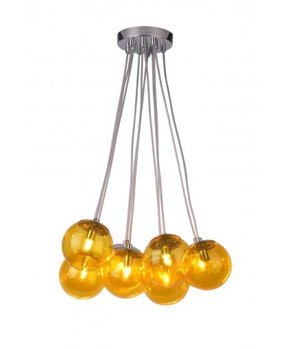 Подвесной светильник Arte Lamp A3029SP-11CC PALLONE, хром/желтый
