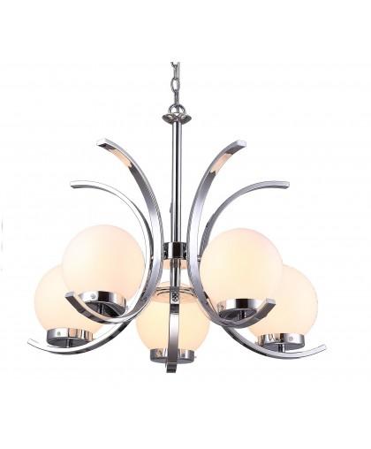 Люстра подвесная Arte Lamp CLAUDIAA8055LM-5CC, диаметр 61 см, хром