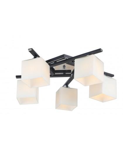 Потолочный светильник ArteLamp A8165PL-5BK, диаметр 54 см, черный/хром
