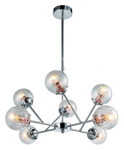 Люстра на штанге Arte Lamp ARANCIA A9276LM-8CC, диаметр 73 см, хром