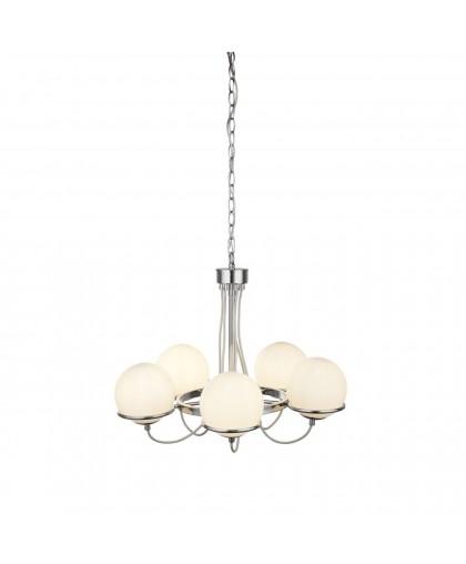 Подвесная люстра Arte Lamp Bergamo A2990LM-5CC, диаметр 58 см, хром