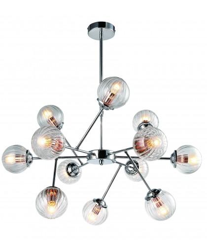 Люстра на штанге Arte Lamp ARANCIA A9276LM-12CC, диаметр 82 см, хром