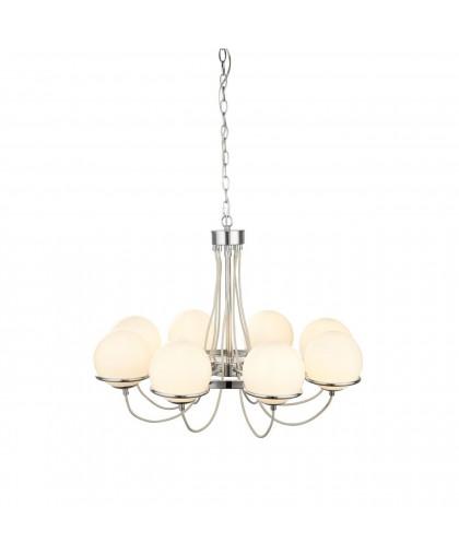 Подвесная люстра Arte Lamp Bergamo A2990LM-8CC, диаметр 74 см, хром/белый