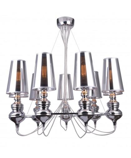 Люстра подвесная Arte Lamp ANNA MARIA A4280LM-9CC, диаметр 85 см, хром