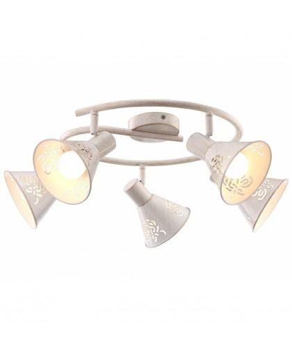 Спот Arte lamp Cono A5218PL-5WG золотой, белый