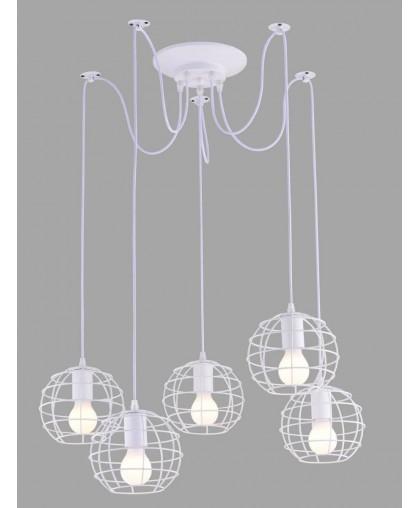Подвесной светильник Arte Lamp A1110SP-5WH белый, диаметр 80 см