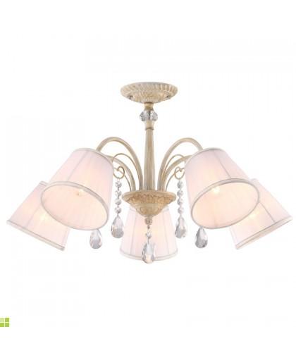Светильник потолочный диаметр 65 см Arte Alexia A9515PL-5WG белый с позолотой