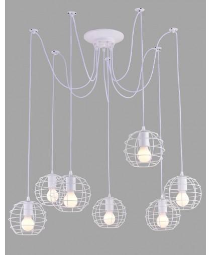 Подвесной светильник Arte LAmp A1110SP-7WH белый, диаметр 80 см