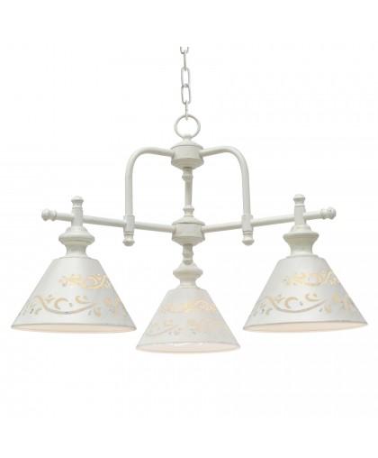 Подвесная люстра Arte lamp Kensington A1511LM-3WG бело-золотой