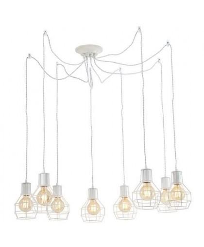 Подвесной светильник Arte Lamp A9182SP-8WH белый, диаметр 75 см