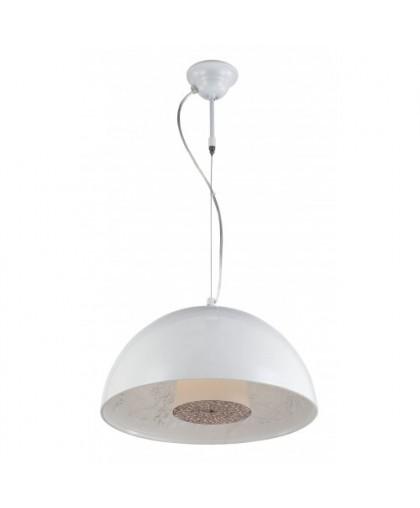 Светильник подвесной ArteLamp Rome A4175SP-1WH белый, диаметр 40 см