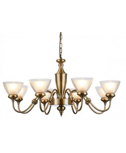 Подвесная люстра Arte Lamp A5184LM-8AB бронза, диаметр 83 см