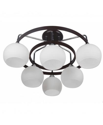 Потолочная люстра Arte lamp Empoli A7148PL-6CK коричневый