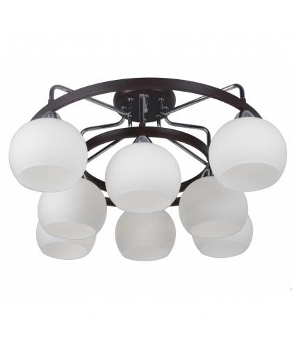 Потолочная люстра Arte lamp Empoli A7148PL-8CK коричневый
