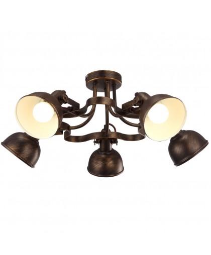 Спот Arte lamp Martin A5216PL-5BR коричневый