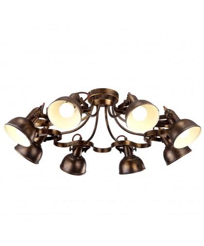Спот Arte lamp Martin A5216PL-8BR коричневый