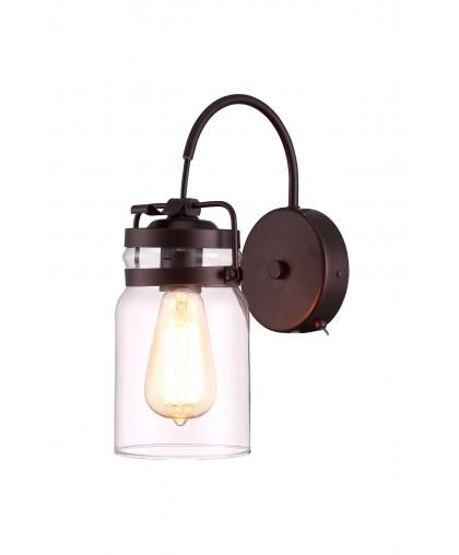 Бра с одним рожком Arte Lamp BENE A9179AP-1CK, коричневый