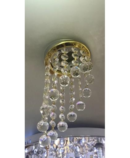 Светильник GX53 L 129 золото / прозрачное стекло