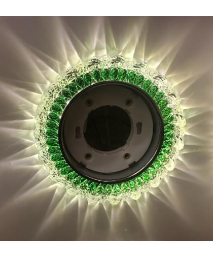 Светильник GX53 L 292 прозрачный / зеленый стекло+LED подсветка