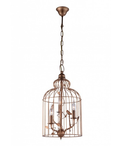 Светильник подвесной клетка с птичками Arte-Lamp GABBIA A1865SP-3BG