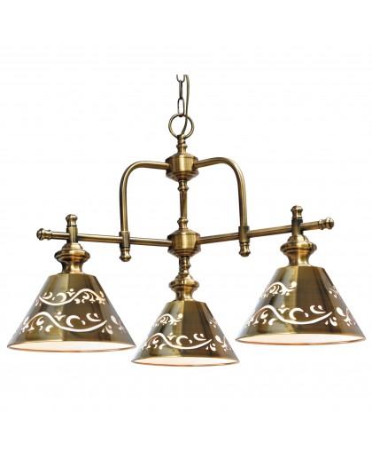 Подвесная люстра Arte lamp Kensington A1511LM-3PB полированная медь