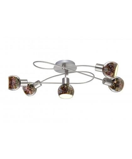Люстра потолочная Arte Lamp A6125PL-5SS ILLUSIONE, никель