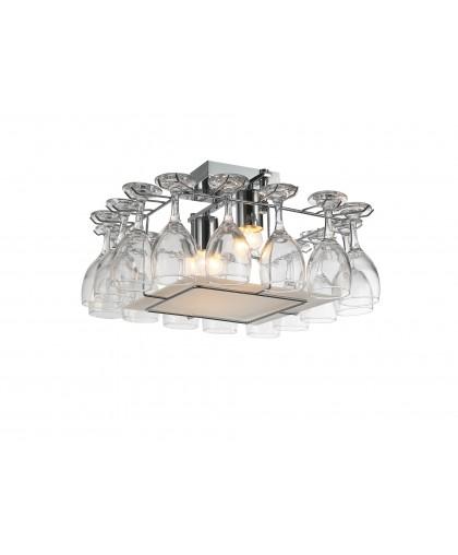 Люстра потолочная Arte Lamp BANCONE A7043PL-2CC, 45х45 см, хром