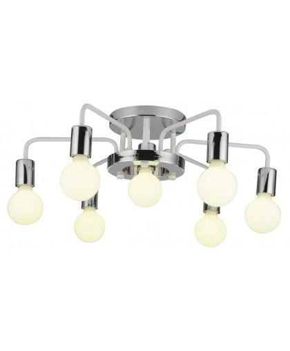 Потолочная люстра Arte Lamp A6001PL-9WH белый/хром, диаметр 66 см