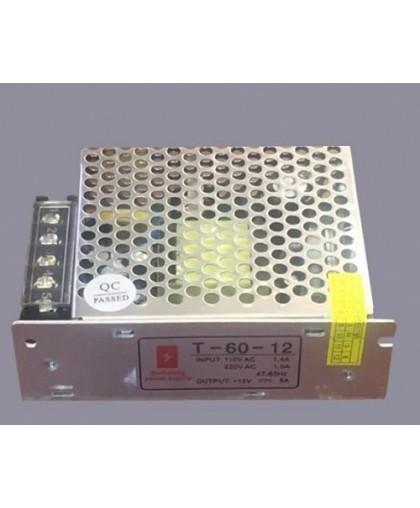 Блок питания для LED ленты IP20 60W, 12V/220V