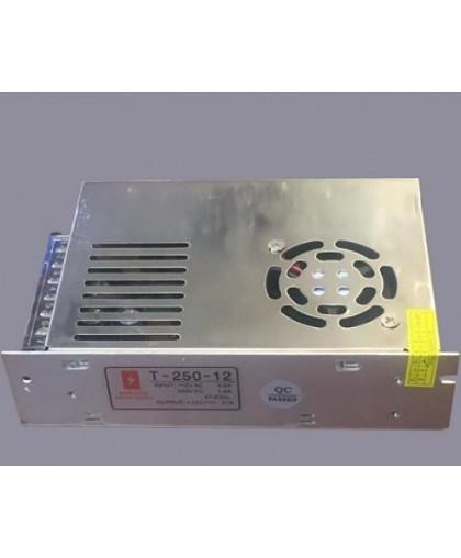 Блок питания для LED ленты IP20 250W, 12V/220V с вентилятором